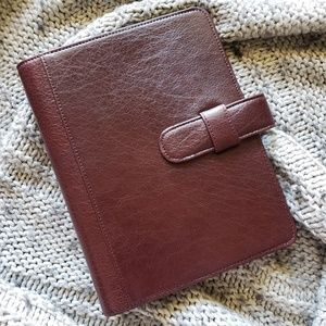 Day-Timer Classic Burgundy Leather Planner